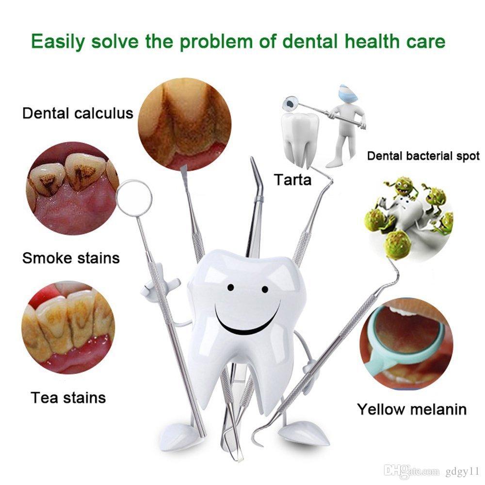 GDGY 6 adet Diş Araçları, Diş cımbız Tartar Kazıyıcı ve Orak Skaleri, Sökücü Diş Ağız Ayna Diş Temizleme Araçları Ev Kullanımı için