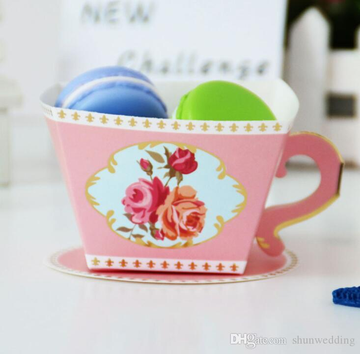 tea cup teapot wedding favor candy box party favors gifts for guests bridal shower birthday party candy box favors decoration black and white favor boxes