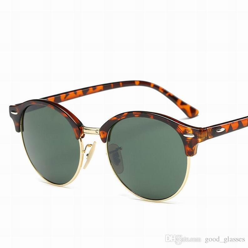 db781f862e52 New Fashion Half Frame Sunglasses Club Women Men Brand Design Sun ...
