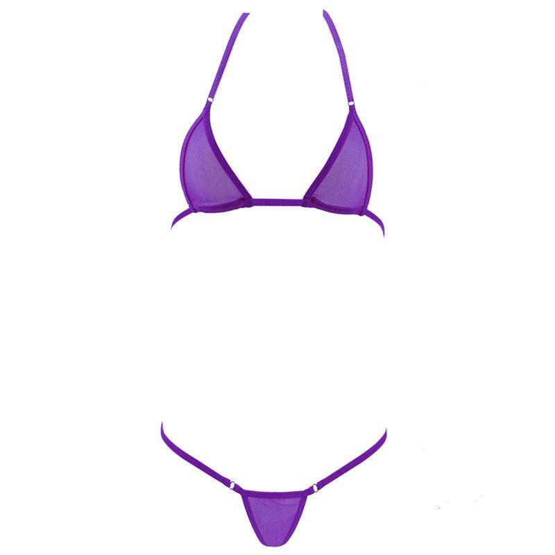 4871155ca49 Transparent Mini Micro Bikini Set Women Hot Sexy Erotic Lingerie Bra +G  String Thongs See Through Bathingsuit Nightwear Costume S18101509. 1  Transactions
