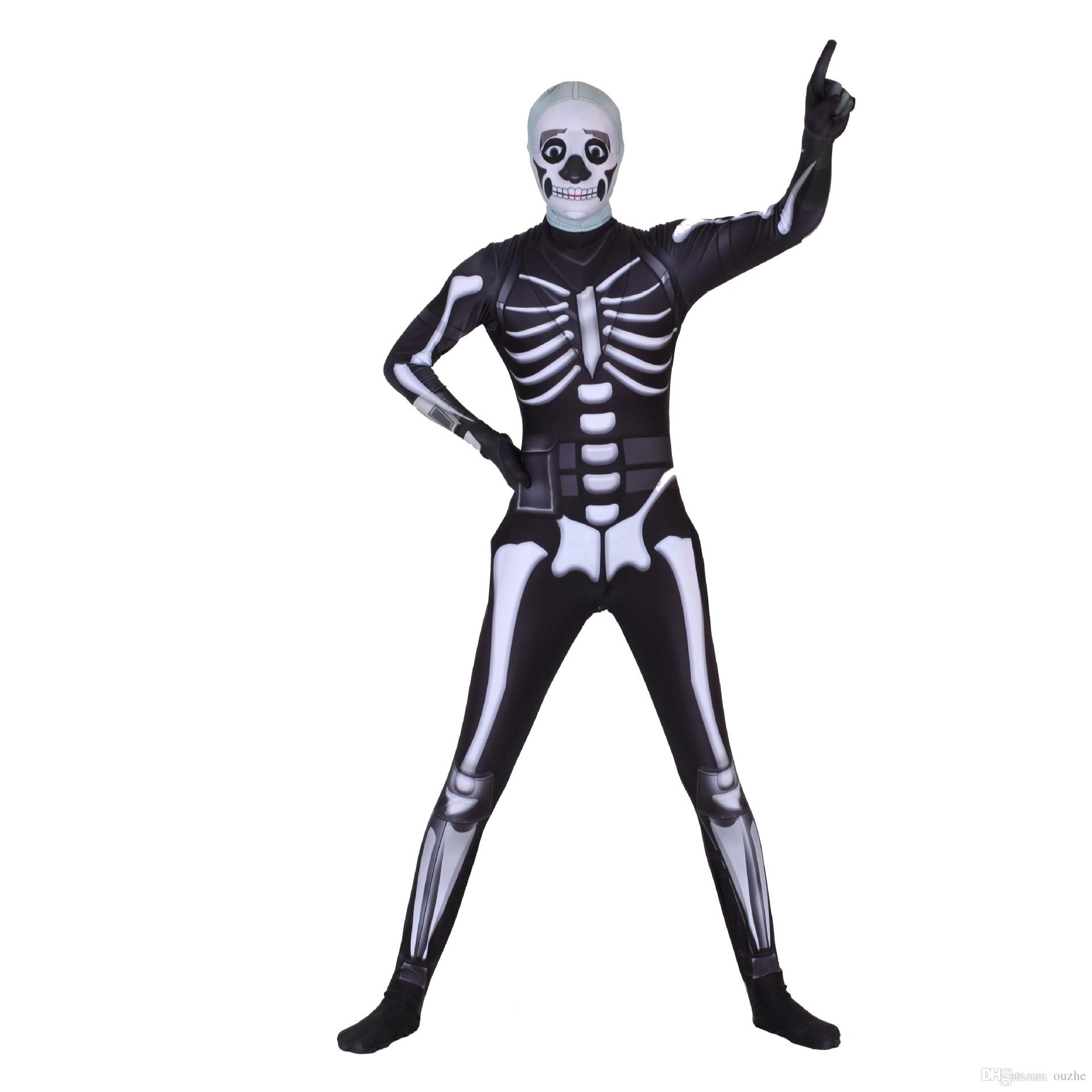 2019 Cosplay Ghost Face Warrior Skull Trooper Costumes Toddler