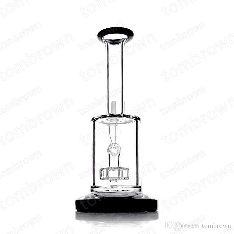 Smoking Daily Use Straight Type Smoking Glass Water Glass Bong 14mm male Joint Bowl with Inline percolator