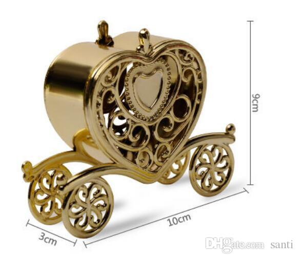 Festive Event new Gold Silver Carriage Candy-Box Gift Sweets boxes Birthday Party Wedding Favours Decoration Christmas Shower Gift