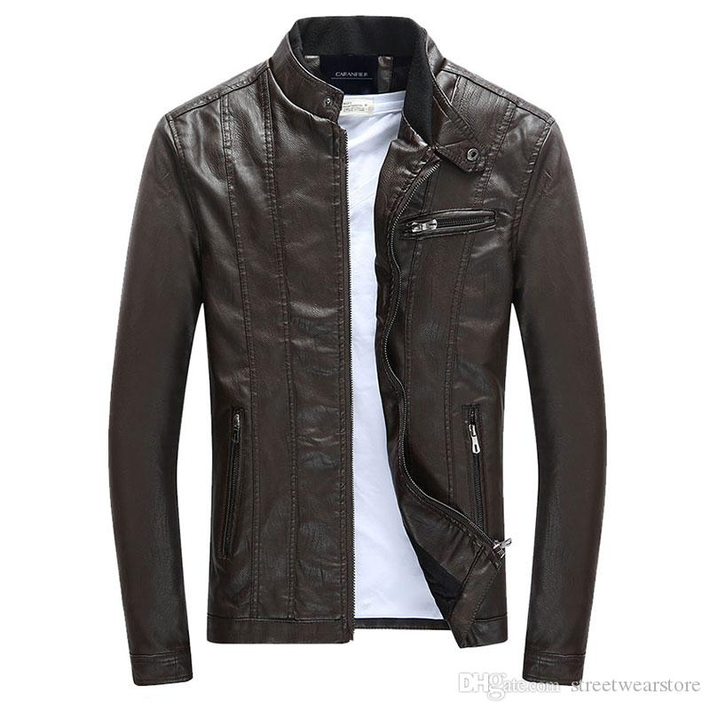 2bd2b1d1f2b7 Mens PU Jackets Coats Motorcycle Biker Faux Leather Jacket Men Autumn  Winter Clothes Male Classic Thick Velvet Coat Online with  58.69 Piece on  ...