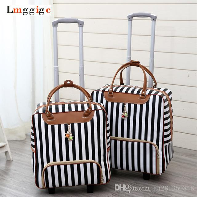 a82881a12 Women Travel Luggage Suitcase Bag,Cabin Waterproof Oxford Cloth Rolling  Trolley Case,PU Leather Carry Ons Wheels Dragboxes Halliburton Suitcase  Womens ...