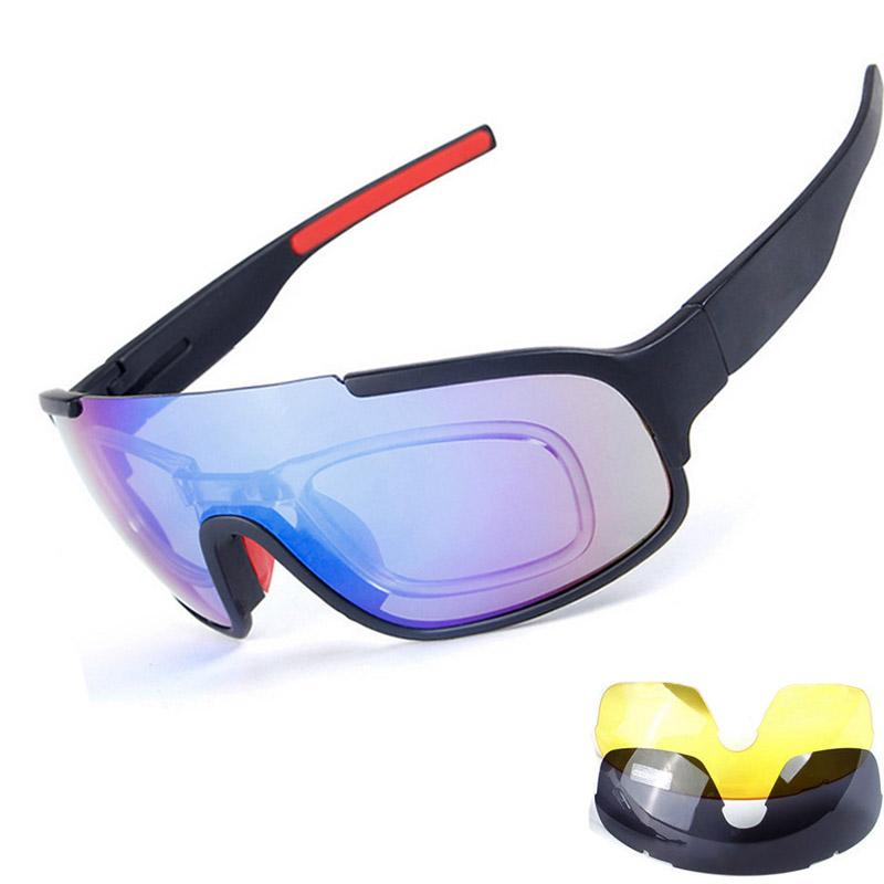 e6b37f4f492 New Bicycle Cycling Glasses 3 Lens UV Bike Sunglasses Sport Men ...