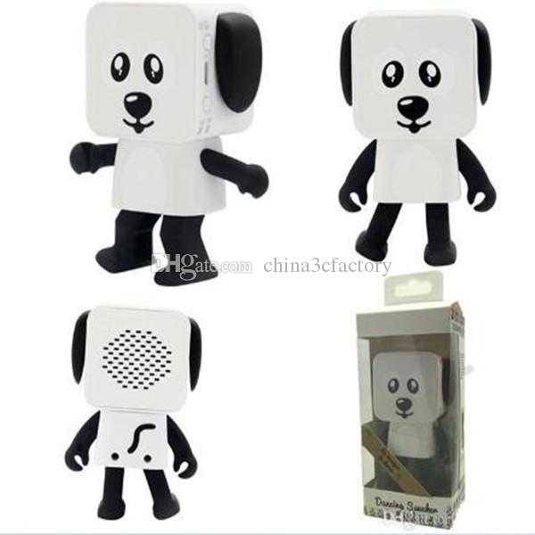 Dancing Dog Bluetooth Speakers Portable Mini Electronic Robot Stereo Speakers Electronic Walking Toys With Music Wireless Speaker