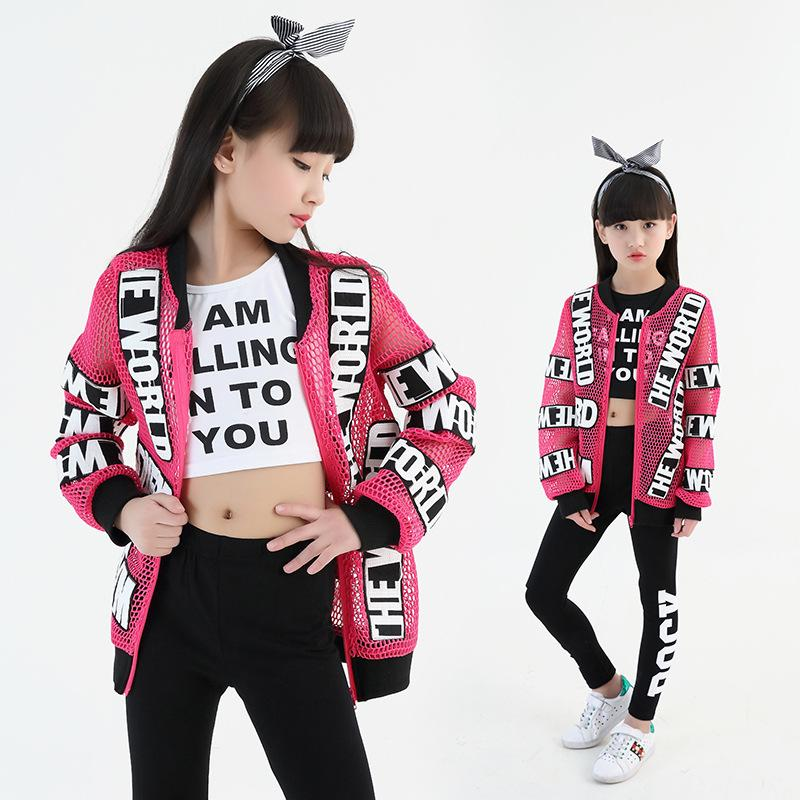 aee93630f 2019 2017 New Girl Boy Children Hiphop Hip Hop Costume Jazz Clothing ...