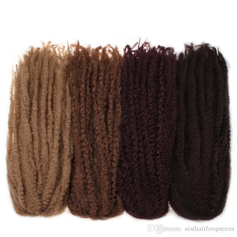 18'' Marley Braids Hair Crochet Braids 18 inch Havana Twist Crochet Braid Hair Extension Afro Kinky Braiding Hair