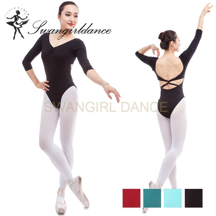 a2757e15a7 Compre Collant Ballet Manga Longa Mulheres Verdes Traje De Dança  Profissional Roupas De Malha Ballet Leotard Para Meninas ML6034 De  Swangirl