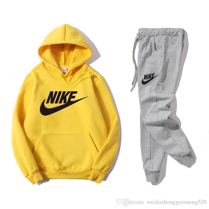 Acheter Manteau NIKE Sweats À Capuche Sportswear Pour Hommes Survêtement  Décontracté Costume Sport Vestes Haute Qualité Designer Tops + Pantalon  Costume ... f6d913efdf73