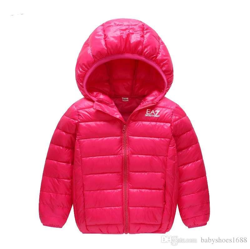 6 Colour Kid Child Winter Warm Down Coat Girl Boy Hooded Down Coat