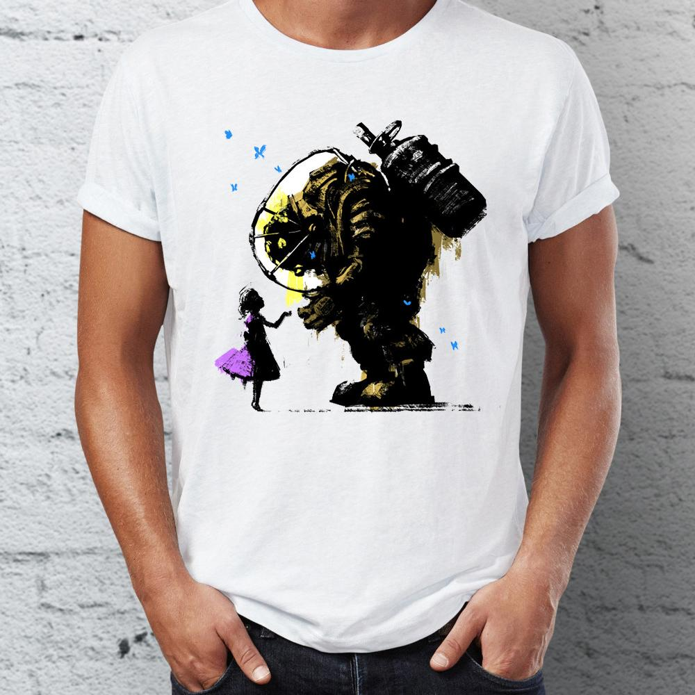 31585e3078ce Men's T Shirt Bioshock Big Daddy and Little Sister Splicer Gaming Badass  Artsy Tee Gift Print T-shirt Hip Hop Tee T Shirt NEW ARRIVAL