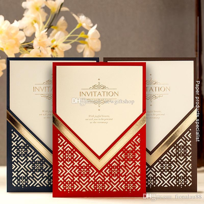molduras para convites de casamento red brown azul laser cut