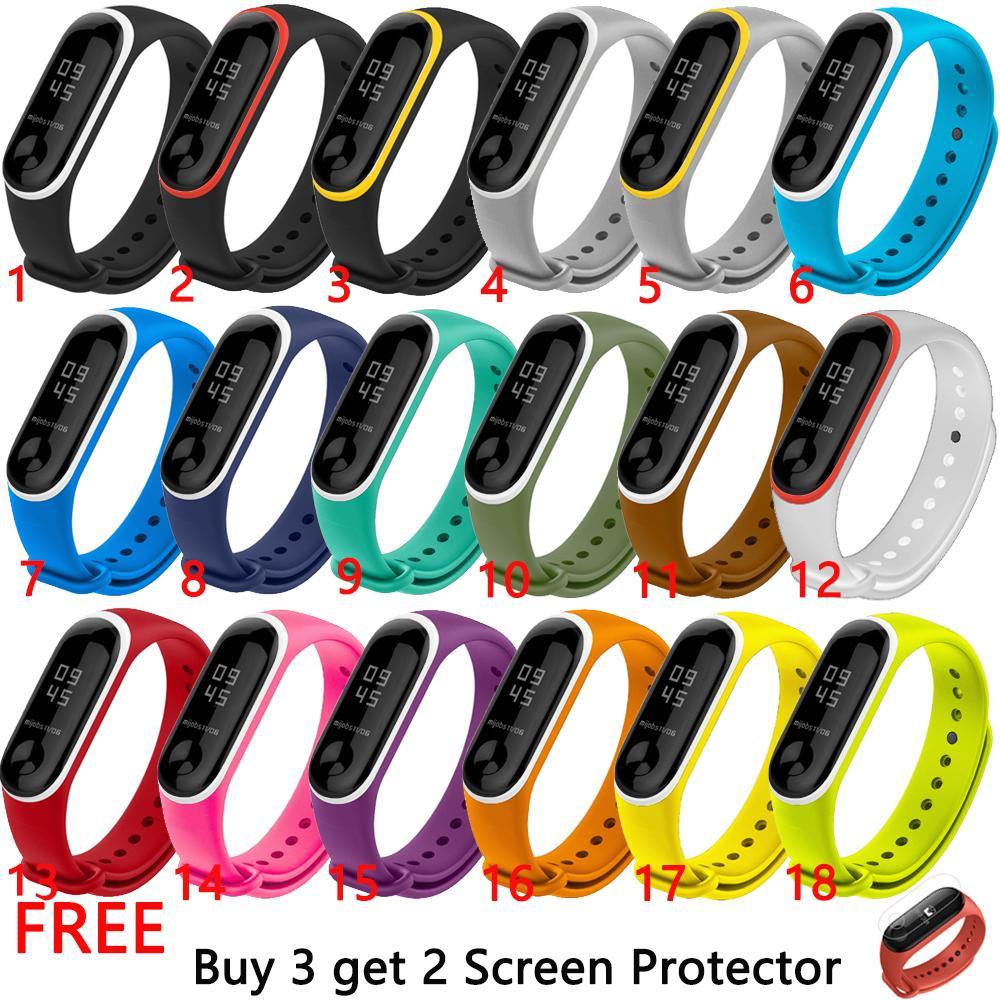 Transparent Silikon Uhr Strap Für Xiao Mi Mi Band 3 Sport Gummi Ersatz Handgelenk Armband Smart Armband Bands Mi Bands 3 Uhrenbänder