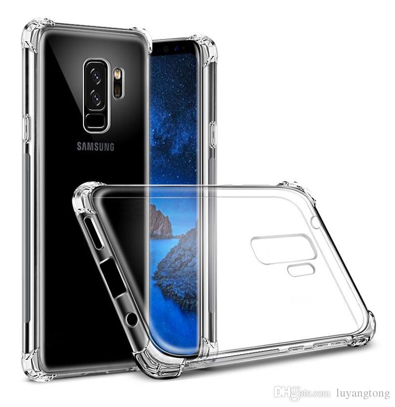/ Étui Anti-choc Pour Samsung Galaxy A8 2018 TPU Housse Souple A8 Plus Coque GalaxyS9 Plus Couverture S9 + Fonds