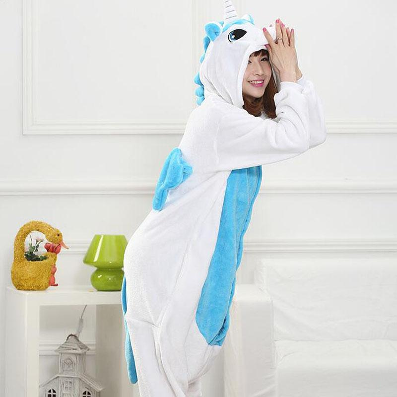 46c54c085e Ostume Adult Animals Kigurumi Unicorn Costume Adult Girl Kids Unicorn Onesie  Flannel Panda Totoro Women Anime Jumpsuit Disguise Onepiece .