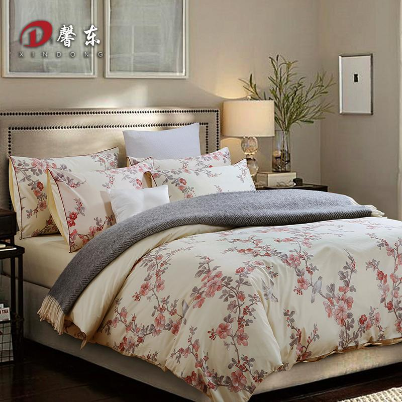 Western Floral Satin Bedding Set Luxury 100 Egypt Cotton Bed Set