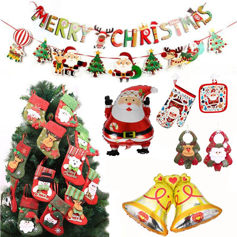 christmas 2019 new year decor santa claus balloon glove banner christmas decoration for home xmas navidad supplies new year gift big christmas ornaments big