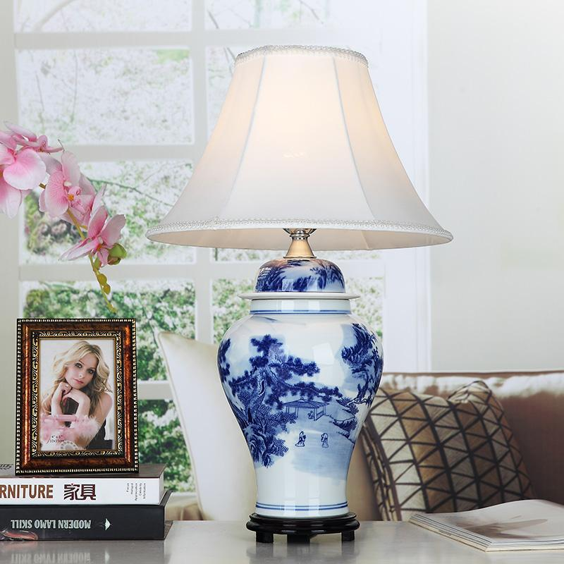 Discount vintage style porcelain ceramic desk table lamps for discount vintage style porcelain ceramic desk table lamps for bedside chinese blue and white porcelain chinese ceramic table lamp from china dhgate aloadofball Image collections