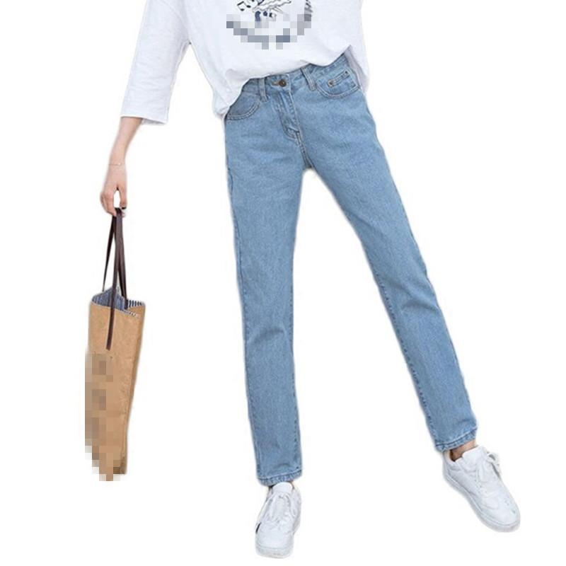 0a70481b1b6dbf B2429 nova versão coreana primavera verão moda feminina solta e reta de  cintura alta com jeans de nove pontos por atacado barato