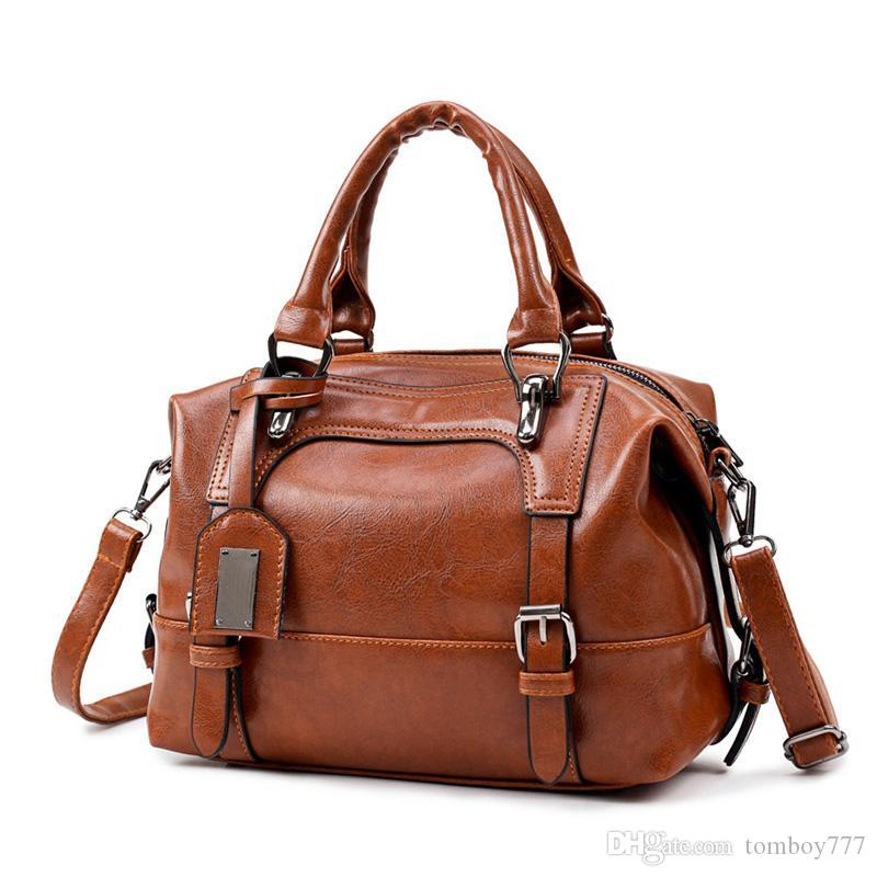 e6e8f14b0f Hot Boston Women Bag Vintage Four Belts Shoulder Bags Sequined Women  Handbags Designer PU Leather Bags Ladies 2018 New Messenger Bags Crossbody  Bags From ...