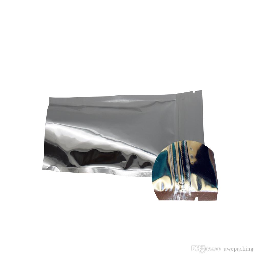 9*14cm Clear Front Aluminum Foil Zip Lock Stand Up Pouch Reclosable Mylar Foil Plastic Bag Food Bean Snacks Package Bag
