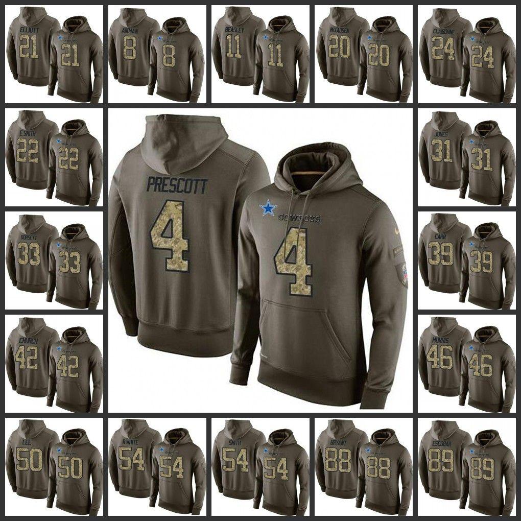 Hot Dallas Cowboys Embroidery Man 4 Dak Prescott 21 Ezekiel Elliott 88 Dez Bryant 50 Sean Lee Pullover Hoodie