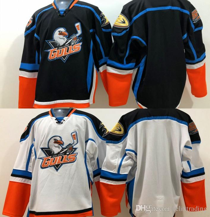 bec59e06a 2019 Hot Gulls Jersey San Diego Gulls Jerseys Men Stitched Hockey Jerseys  Black White Color From Felixtrading