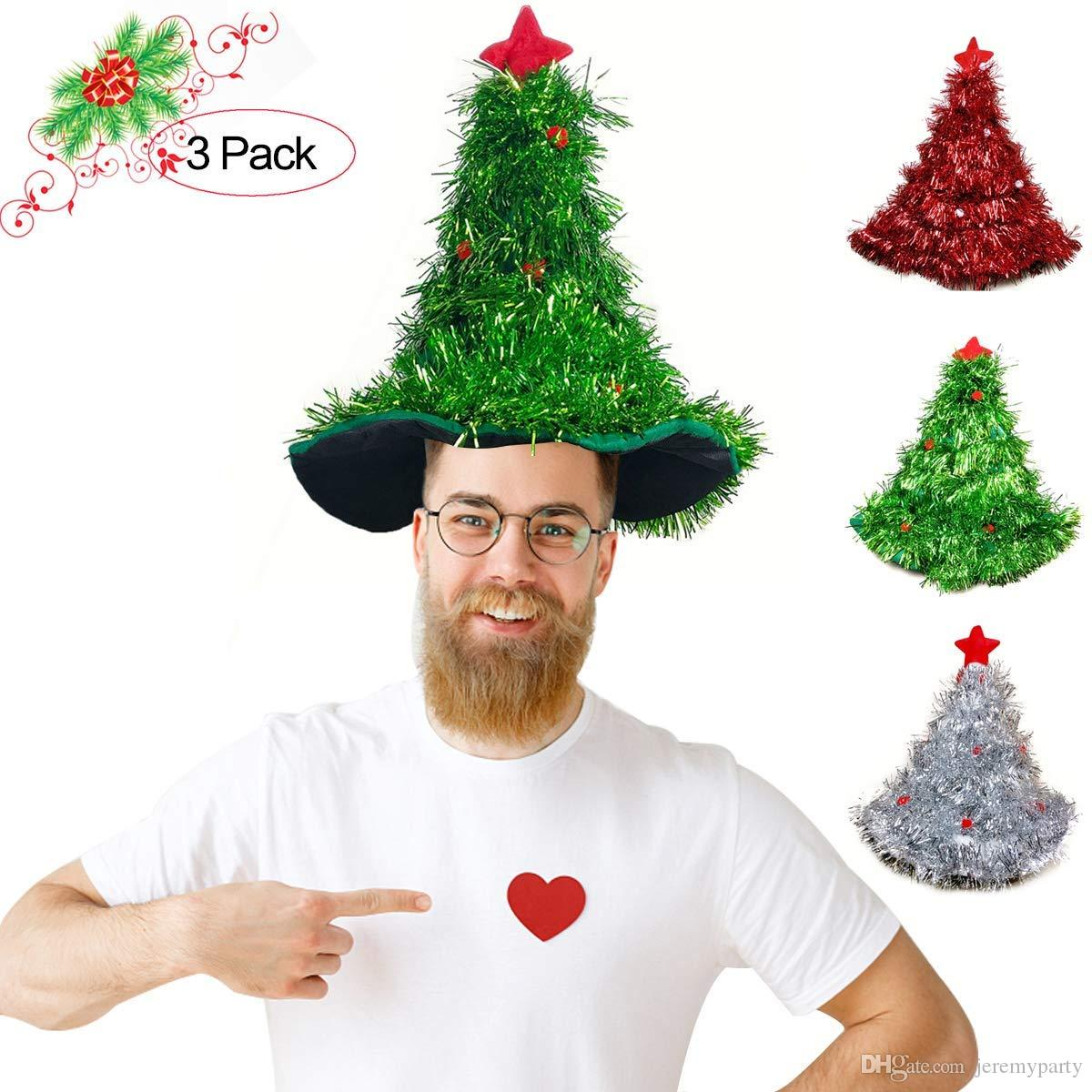 e43260322c6f3 Hot Christmas   Holiday Women Men Funny Party Hats Xmas Hat Christmas Tree  Hats In Stock Dog Halloween Costumes Plus Size Costumes From Jeremyparty
