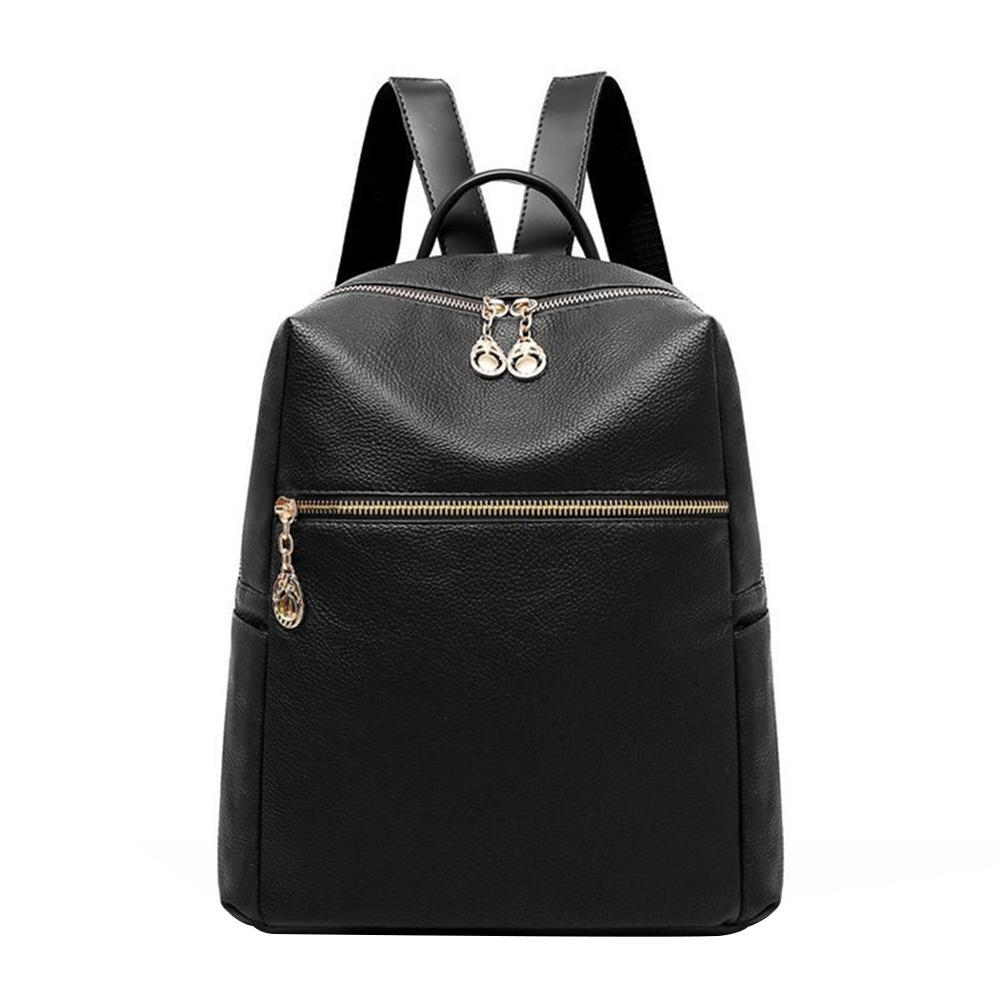 b5805a48c3 Fashion Retro Solid Color Faux Leather Women S Travel Casual Backpack  Shoulders Bag Leather Backpacks One Strap Backpack From Serady