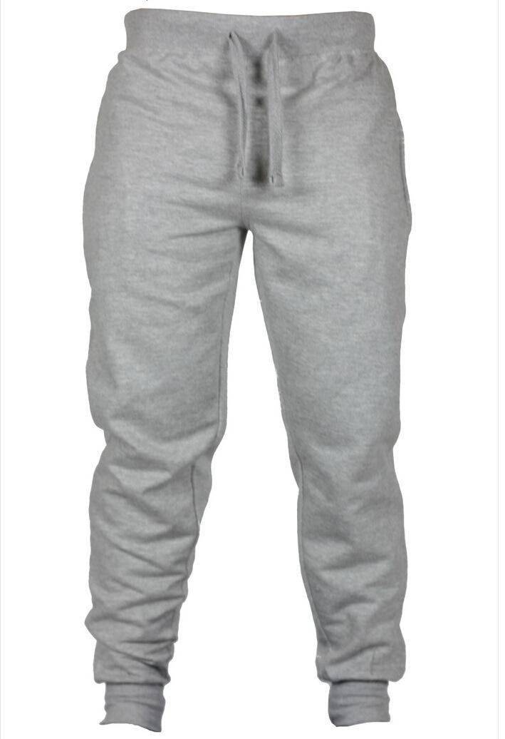 Hommes Pantalons chino Skinny Sport Automne Printemps Printemps Long Harem Pantalon Décontracté Couleur Unie Pantalon Hombres De Pantalones