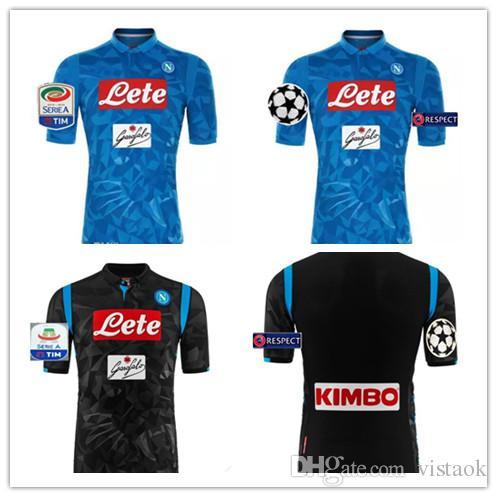 18 19 Napoli SSC Home INSIGNE HAMSIK Soccer Jerseys 2018 2019 Naples Third  Away Black Camisetas MERTENS Italia Calcio MAGLIA Football Shirt UK 2019  From ... b8bb7ea3e1819
