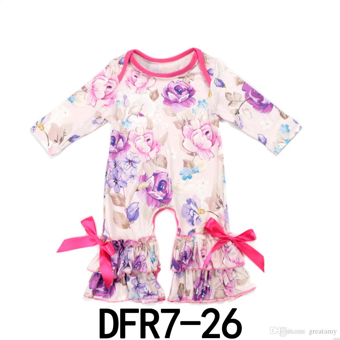 c392c0c1b Newborn Baby Clothes Summer Baby Rompers Printed Bow Short Sleeve ...