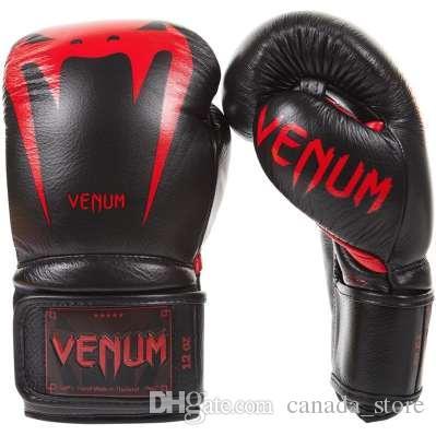 6403ebe02 Compre VENUM GiantBoxing Luvas De Couro De Napa Muay Thai Luva De Boxe De Couro  Luvas De Boxe De Couro Genuíno De Canada store