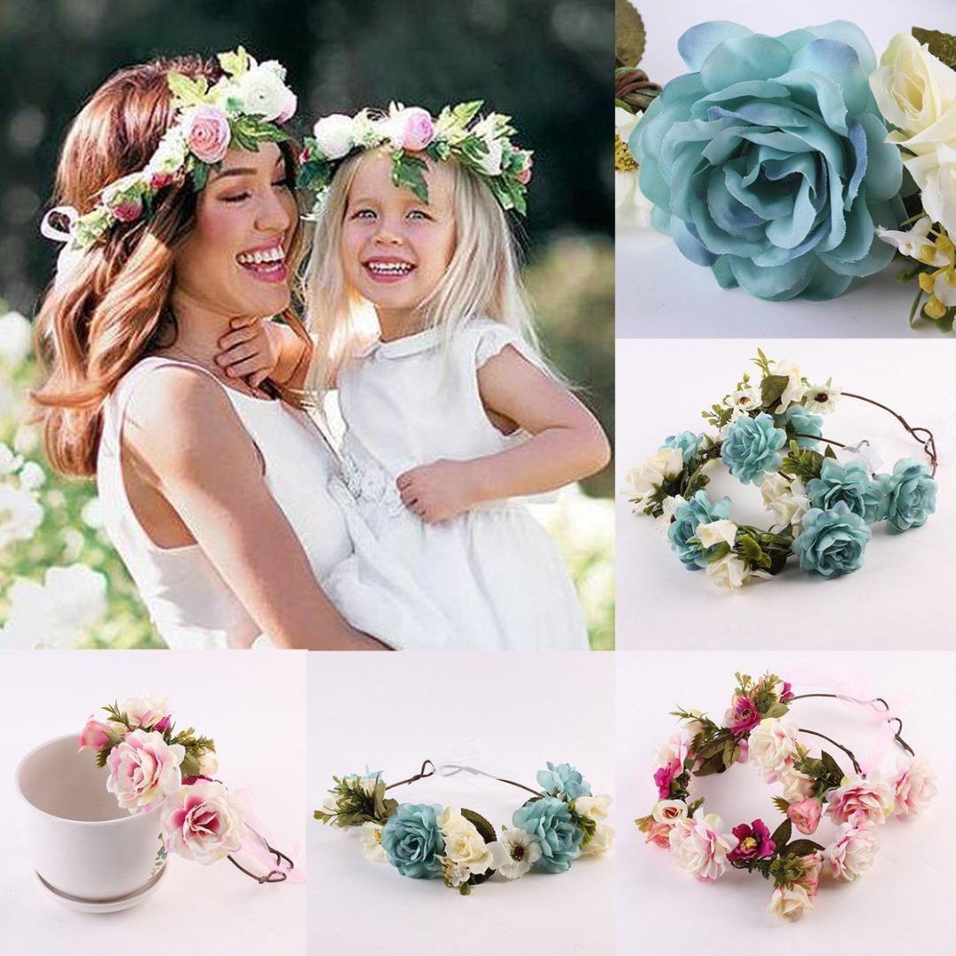 Grosshandel 2018 Frauen Madchen Kinder Hochzeit Blume Haar Krone
