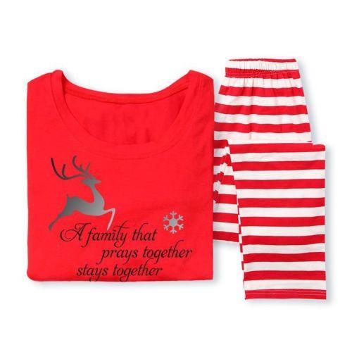 d23bd51e19 Hot Fairy XMAS Family Matching Christmas Pajamas Set Men s Women ...