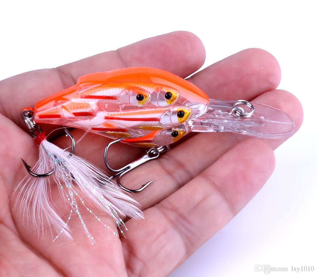 CB036 Crankbait floating Fishing Lure Swimbait Isca Artificial Bait Fishing Wobbler 7.5cm 9g pesca peche strong hook