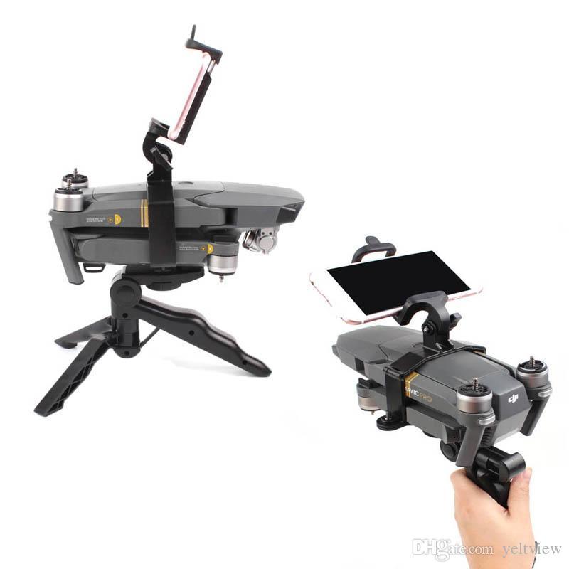 DJI Mavic pro Drone Accesorios Plegable de mano Gimbal trípode Estable Estabilizador de teléfono con soporte para fotografía de aterrizaje Ángulo ajustable
