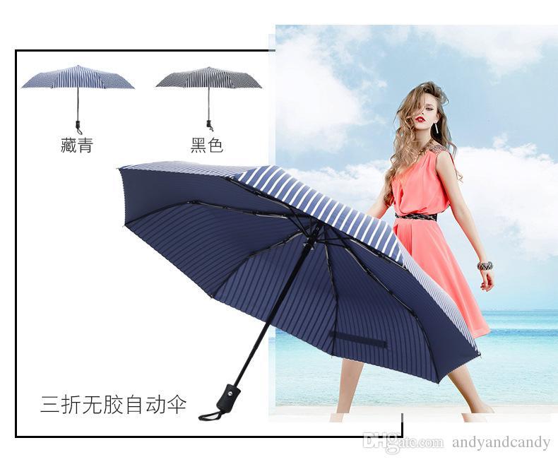 Pocket Folding Sun & Rain Beach Umbrella 3-5 Fold Optional 8 Bone Windproof Ultra Light Umbrella For Outdoor Advertising Gift