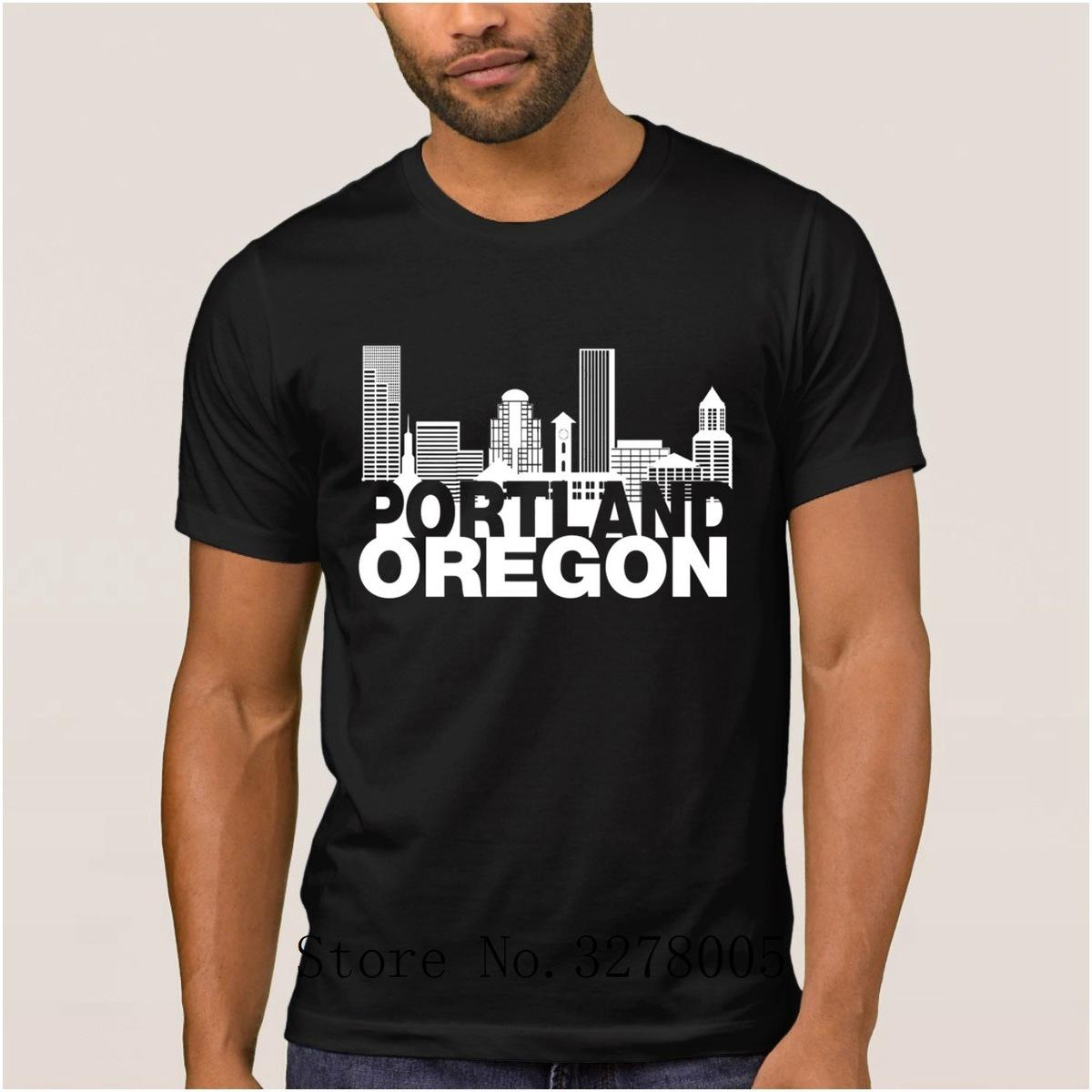 Custom Order Cool Best T Shirt Mens Portland Oregon Skyline
