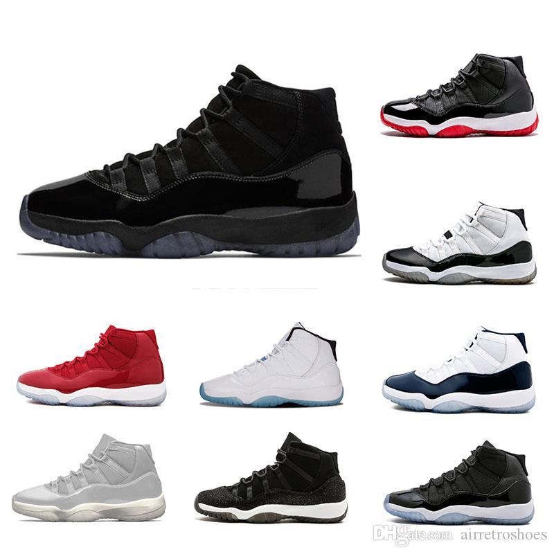 New Cool Grey 11 11s Mens Basketball Shoes Platinum Tint Cap and Gown Gym Red Midnight Navy women Bred Space Jam Sports Sneakers