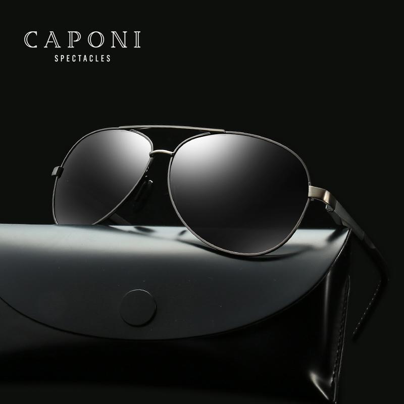 0b699f750e CAPONI Classic Pilot Sunglasses Men Polarized Brand Designer Men Vintage  Eyewear Fishing Goggles Driving Sun Glasses 210EN Oversized Sunglasses Best  ...