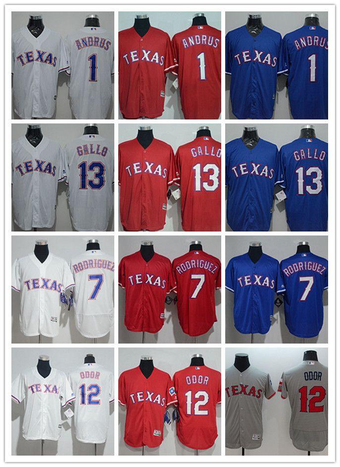 ee6de4bde 2019 Men Women Youth Texas Custom Rangers Jersey 1 Elvis Andrus 7 Ivan  Rodriguez 12 Rougned Odor 13 Joey Gallo Blue Red White Baseball Jerseys  From Tenplus, ...