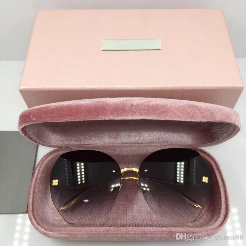 33fca6f5234 Best Designer Glasses Luxury Brand Designer Sunglasses For Mens Frameless  Nylon Lens Metal Frame Fashion Eyeglasses With Box Victoria Beckham  Sunglasses ...