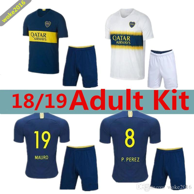62ae1459517 ADULT KIT 2018 2019 BEST QUALITY Boca Juniors Jersey Home Away 18 19 ...