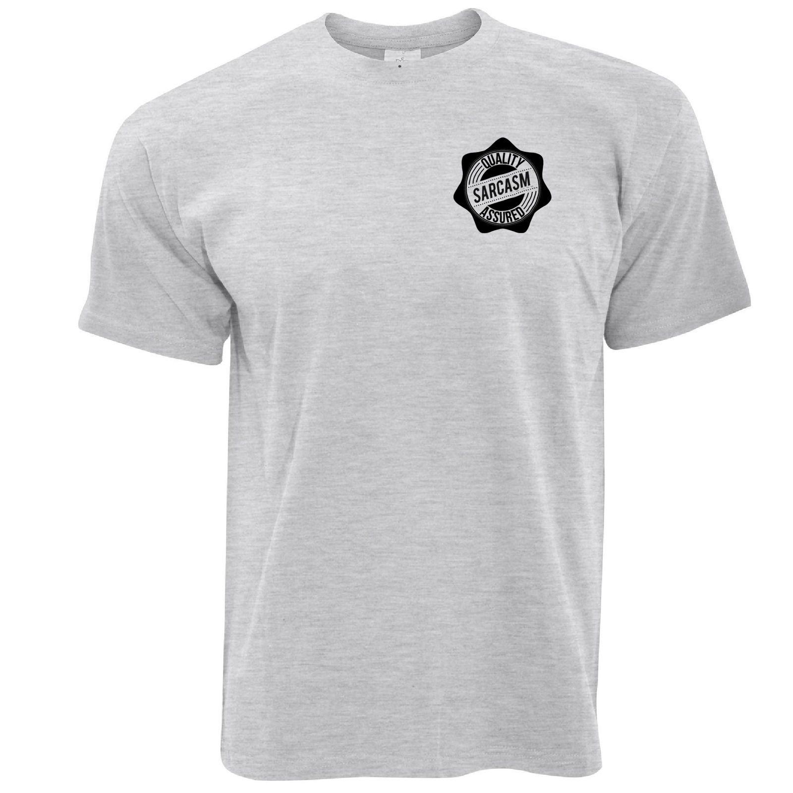c2ac0758 Novelty Logo T Shirt Quality Sarcasm Assured Stamp Rude Joke Slogan 100%  Cotton Casual Printing Short Sleeve Men T Shirt O Neck Funky T Shirts For  Women T ...