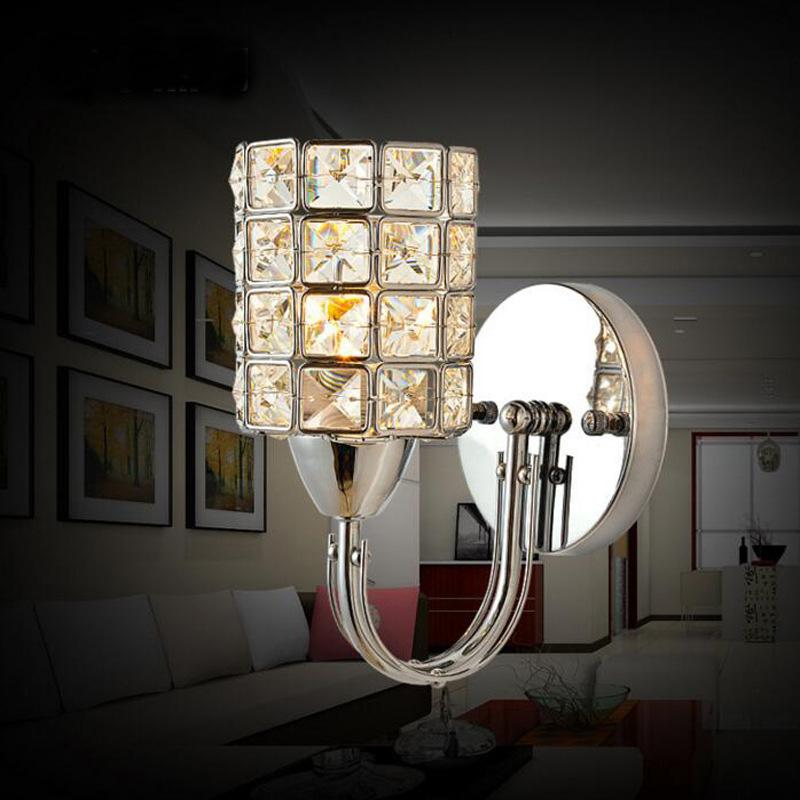 indoor sconce lighting fixtures modern luxury crystal wall light chrome finish sconce lighting fixture indoor led fixtures kit lamps cheap