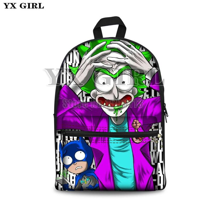 98e2f8c3f68e Rick And Morty Printed Canvas Backpacks Teenage Girls School Bags Women  Fashion Bao Travel Backpacks 3D Cartoon School Waterproof Backpack Kids  Backpacks ...