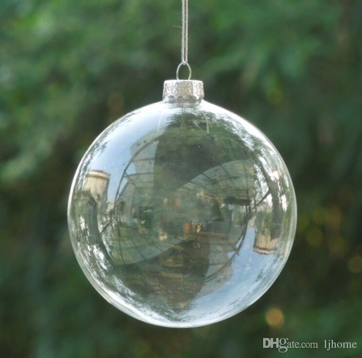 8cm glass christmas ball transparent glass globe christmas day decoration different diameter for selecting best selling decoration xmas decorations from